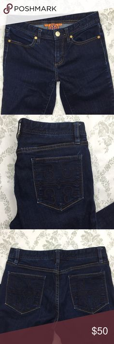 Tory Burch cropped jeans Sz 25 x 22.5 Pre loved great condition. Tory Burch Jeans Ankle & Cropped