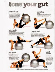 Workout ball abs