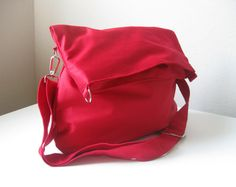 Use Two Sizes OfZipper ClosureRedMessenger Bag by marbled on Etsy, $36.00