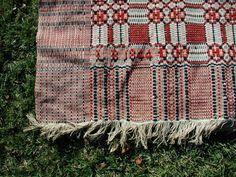 American Woven Coverlet 1844 | eBay
