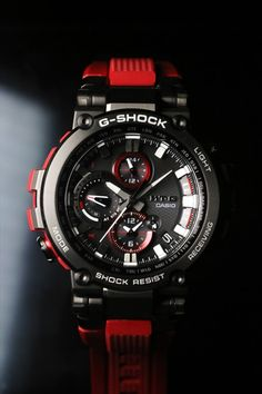 Buying The Right Type Of Mens Watches - Best Fashion Tips G Shock Watches Mens, Best Watches For Men, Amazing Watches, Luxury Watches For Men, Cool Watches, Men's Watches, Relogio Casio Edifice, Bluetooth Watch, Red Band