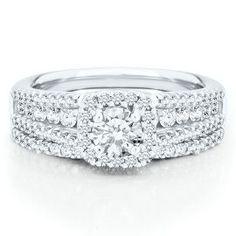 Mozart 1 1/4ct TW Diamond Engagement Ring Set, in 14kt Gold - Engagement Rings - Rings - Jewelry - Helzberg Diamonds item #1746132