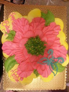 Giant flower cupcake cake