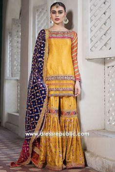 Bridal Mehndi Dresses 2020 - Pakistani Wedding Dresses for Brides Pakistani Mehndi Dress, Bridal Mehndi Dresses, Pakistani Formal Dresses, Shadi Dresses, Pakistani Party Wear, Pakistani Wedding Outfits, Pakistani Wedding Dresses, Pakistani Dress Design, Bridal Outfits