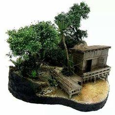 Jungle hut 1/35 scale.
