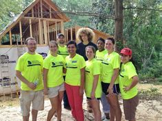 Spine Care Staff help with habitat house