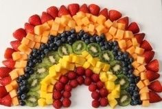 Rainbow Fruit Salad with Strawberry Dip – Your kids will enjoy this rainbow-sh. Rainbow Fruit Salad with Strawberry Dip – Your kids will enjoy this rainbow-shaped fruit arrangement, fully displaying their favorite colors in a delicious way. Fruit Decorations, Food Decoration, Kraft Recipes, Kraft Foods, Salad Presentation, Fruit Creations, Rainbow Fruit, Kids Rainbow, Fruit Dishes
