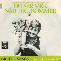 Energifyldte Grethe Sønck synger en (op-)sang til Carl Emil. B-siden er oprindeligt fra det svenske Melodi Grand Prix 1968.