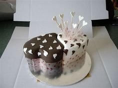 Another double heart cake
