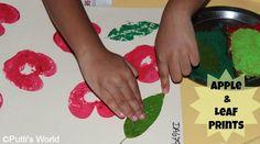 Apple and Leaf Prints - Easy, fun fall art!