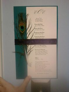 This is a Peacock wedding program that i made.