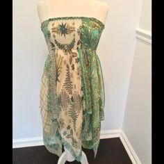 BCBG point chiffon print vintage dress/ skirt Gorgeous chiffon print lined dress/ skirt from BCBG BCBGMaxAzria Skirts