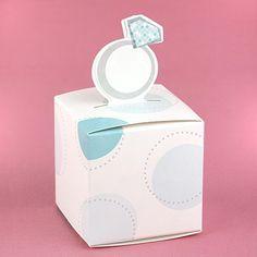Diamond Ring Favor Boxes - 2x2x2 - pack of 25 , favor box, bridal shower favor idea