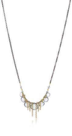 "Lulu Designs ""Sky"" Moss Aqua Marine and Cluster Chain Necklace: Jewelry: Amazon.com"