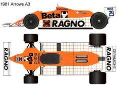 1981 arrows A3 formula 1 Mclaren Mp4, Sport Cars, Arrows, A3, Slot, Colors, Racing, Power Cars, Colour