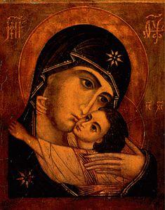 Byzantine Icons Holy Virgin Mary: Virgin of Pskov Byzantine Icons, Byzantine Art, Russian Icons, Russian Art, Religious Icons, Religious Art, Church Icon, Madonna And Child, Catholic Art