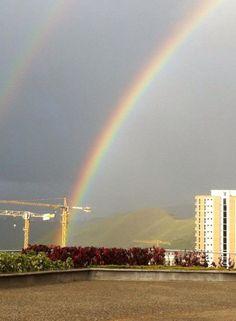 Rainbow in Caracas, Venezuela