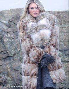 For everyone who loves fur. Lynx, Fur Fashion, Winter Fashion, Fabulous Fox, Sexy Women, Women Wear, Tall Guys, Collar And Cuff, Fur Collars