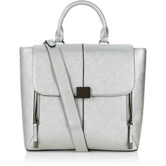 Accessorize Clean Square Backpack (220 SAR) ❤ liked on Polyvore featuring bags, backpacks, satchel bag, expandable backpack, white satchel handbags, white backpack and satchel handbags