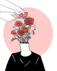 11.4.17 - journal.  I feel better every day.  #art#drawing#ink#pen#journal#mixedmedia#illustration#flowers#roses#digitalart#elesq#artwork