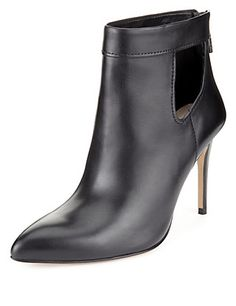 Leather Pointed Toe Ankle Boots with Insolia® | M&S