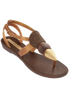Grendha Sanda Flip Flops - Bronze