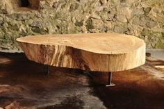 wooden table / drewniany stolik - http://www.seart.pl/lawa-stolik-debowy-jedyny-swoim-rodzaju-p-6062.html