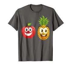 Pineapple Fruit, Smile Face, Graphics, Amazon, Store, Cute, Mens Tops, T Shirt, Fashion