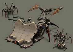 """Robot concept for """"The Humans are Dead"""" flash game."""