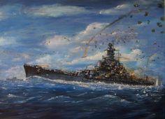 BB57 USS South Dakota at the Battle of Santa Cruz Oct. 1942