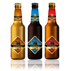 2013 Thailand's Singha Beer celebrates 80th anniversary. Chat-Wa-Lee. Diamond shaped labels. Not sure about overall design.