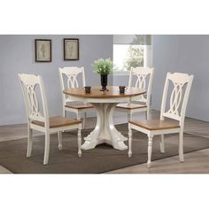 Iconic Furniture Deco 5 Piece Dining Set Finish: Caramel/Biscotti