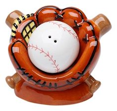 StealStreet SS-CG-10469 3.63' Baseball and Glove with Bats Salt and Pepper Shaker * Don't get left behind, see this great product : Christmas decor