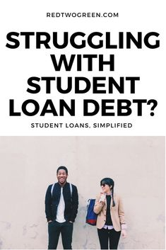 Are you struggling with your #studentloans? When we graduated, we had no idea what repayment plan to choose and who to trust amid a plethora of conflicting information. Join us at redtwogreen.com where you can learn how to navigate your #studentloandebt for free. We're sharing our journey and including our best tips and tricks to help you crush your student loan debt goals. #millennial #college