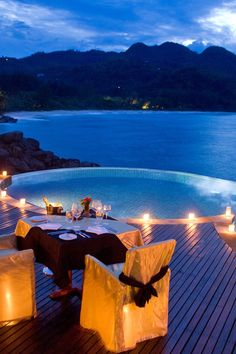 Or set up a private meal for two on your villa's veranda. #Jetsetter Banyan Tree Seychelles (Mahe, Seychelles)