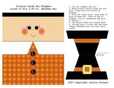 Pilgrim candy bar wrapper - perfect for Teacher candy bars!