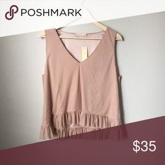 Soft Pretty Ruffle Top Soft Pretty Ruffle Top -size XL -new with tags -blush pink Tops Blouses