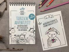 HERZanHERZ Advent, Poster, Bullet Journal, Etsy, Paper Mill, Diy Home Crafts, Postcards, Craft Gifts, Calendar