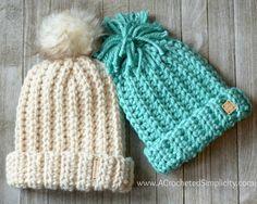 Crochet Beanie Free Crochet Pattern - Knit-Look Super Bulky Slouch (Adult Chunky Crochet Hat, Crochet Adult Hat, Crochet Beanie Pattern, Crochet Cap, Crochet Stitch, Free Crochet, Crochet Waistcoat, Knitting Patterns, Crochet Patterns