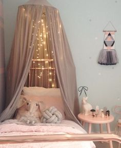 As promised, here is the day time pic of G's canopy over her bed. You have no idea how easy bed time has become🙊👊 Decoration Inspiration, Nursery Inspiration, Canopy Over Bed, Deco Kids, Cute Room Ideas, Simple Bed, Easy Bed, Princess Room, Little Girl Rooms