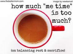GREAT post for moms!! Can you have too much me time??