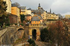 "The Ville Haute (""High City"") of old LUXEMBOURG"