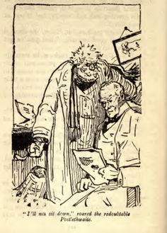 G. K. Chesterton's illustrations for 'The Green Overcoat' by Hilaire Belloc