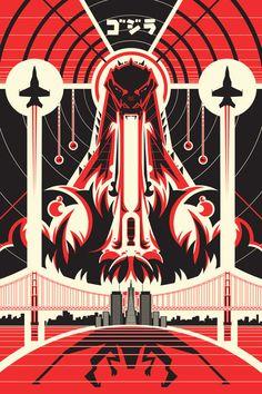 Godzilla 2014 Poster-Ron Guyatt