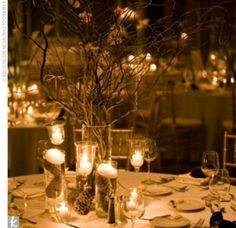 beautiful winter theme! #wedding #winter #christmas