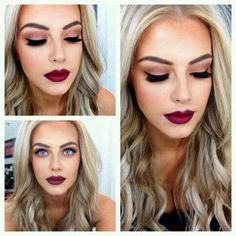 Gorgeous winter makeup for blondes