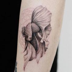 Betta Splendens fish tattoo. Tattoo artist: Doy