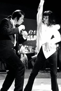 John Travolta and Uma Thurman - 'Pulp Fiction', 1994, directed by Quentin Tarantino
