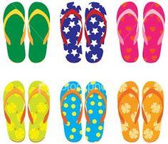 Neon Flip Flops :)