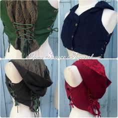 Festival Clothing Corset Pixie Vest Flow Hoop Outfits Burning Man... ($71) ❤ liked on Polyvore featuring tops, black, sweatshirts, women's clothing, lace corset, sexy corset, sexy corset tops, steampunk corset and sexy vest